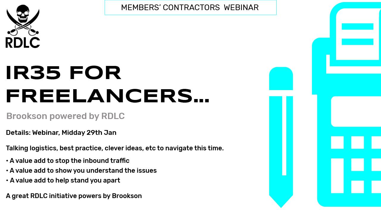 29 JAN: Brookson One IR35 Webinar for Members Contractors
